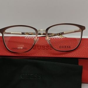 New Authentic Guess Eyeglass GU2659V Brown/Gold